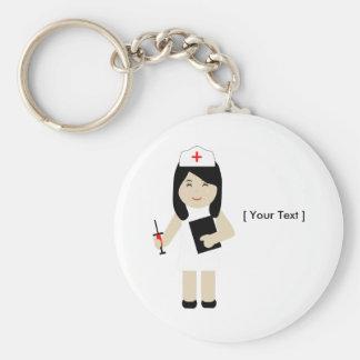 Porte - clé mignon de l'infirmière 2 porte-clé rond