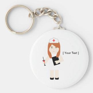 Porte - clé mignon de l'infirmière 5 porte-clé rond