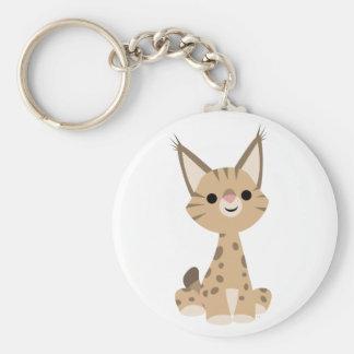 Porte - clé mignon de Lynx de bande dessinée Porte-clé Rond