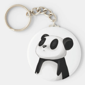 Porte - clé mignon de panda porte-clé rond