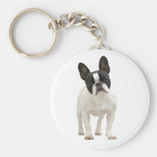Porte - clé mignon de photo de bouledogue porte-clés