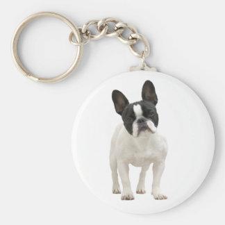 Porte - clé mignon de photo de bouledogue porte-clé rond
