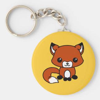 Porte - clé mignon de renard porte-clé rond
