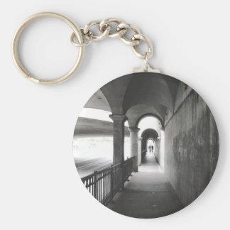 Porte - clé monochrome déplaisant original porte-clé rond