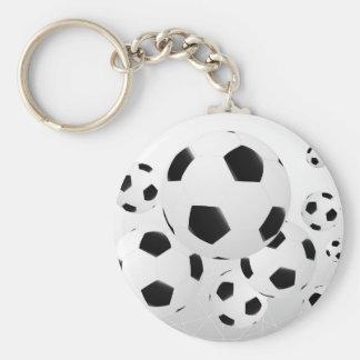 Porte - clé multiple de ballons de football porte-clé rond