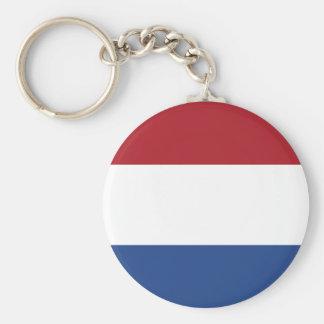Porte - clé néerlandais de drapeau porte-clé rond