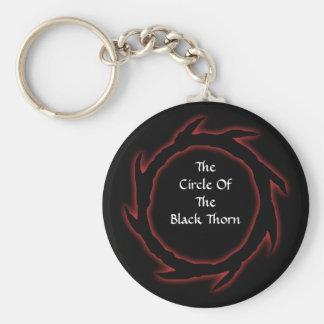 Porte - clé noir d'épine porte-clés