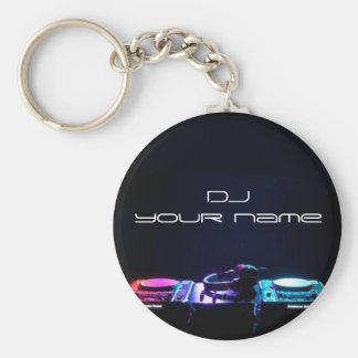 Porte - clé nommé personnalisé du DJ Porte-clé Rond