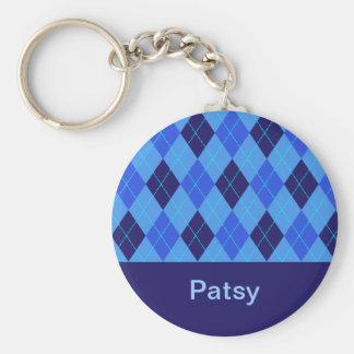 Porte - clé nommé personnalisé par P initial de Porte-clé Rond
