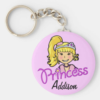 Porte - clé nommé pourpre de cheveux blonds de porte-clé rond