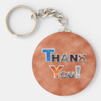 Porte - clé orange de Merci Porte-clés
