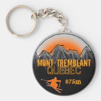 Porte - clé orange de ski de Mont Tremblant Québec Porte-clé Rond