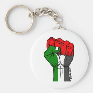 Porte - clé palestinien de poing de Carlos Latuff Porte-clé Rond