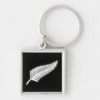 Porte - clé patriotique d'emblème national de porte-clé carré argenté