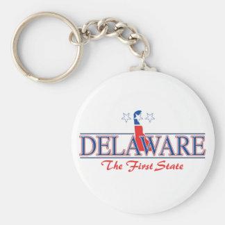 Porte - clé patriotique du Delaware Porte-clé Rond