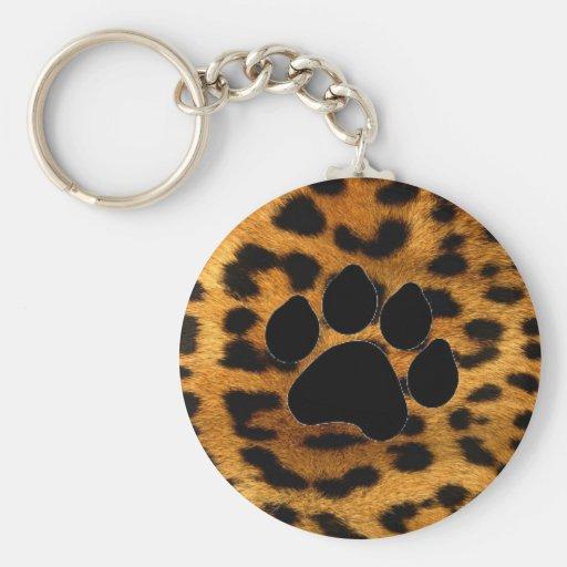 Porte - clé : Peau de léopard avec le porte - clé  Porte-clés