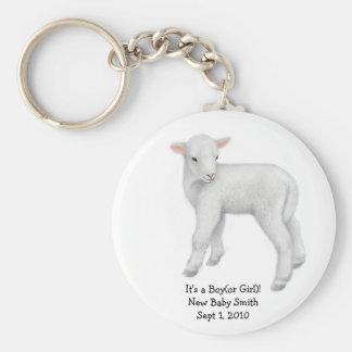 Porte - clé personnalisable d'agneau porte-clé rond