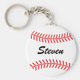Porte - clé personnalisé de base-ball avec le nom porte-clé rond