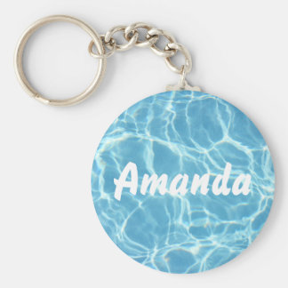 Porte - clé personnalisé de l'eau de piscine porte-clé rond