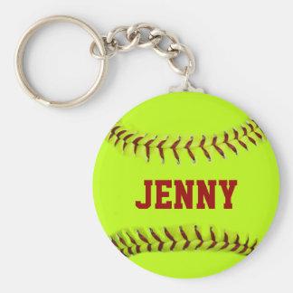 Porte - clé personnalisé du base-ball porte-clé rond