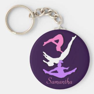 Porte - clé personnalisé par gymnaste de porte-clé rond