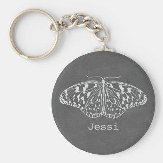 Porte - clé personnalisé par papillon inspiré par porte-clé rond