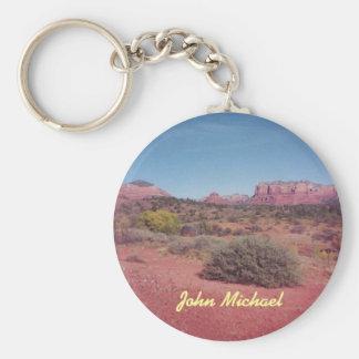 Porte - clé personnalisé par vue de désert porte-clé rond