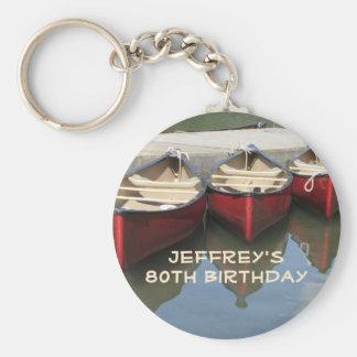 Porte - clé personnalisé quatre-vingtième par porte-clé rond