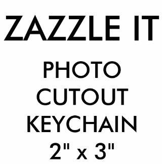 Porte-clé Photo Sculpture Blanc de porte - clé de coupe-circuit de photo