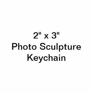 """Porte-clé Photo Sculpture Coutume 2"""" x 3"""" porte - clé de sculpture en photo"""