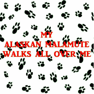 Porte-clé Photo Sculpture mon malamute d'Alaska marche sur moi