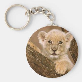 Porte - clé : Porte - clé de lion de bébé Porte-clé Rond