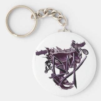Porte - clé (pourpre) de BMX Porte-clé Rond