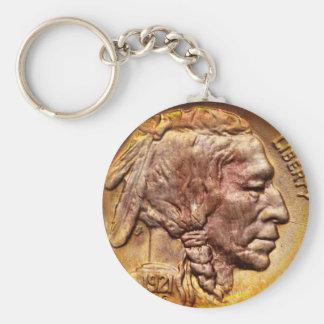 Porte - clé principal indien vintage de collecteur porte-clé rond