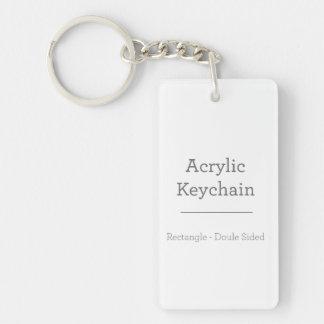 Porte - clé rectangulaire personnalisé porte-clé rectangulaire en acrylique double face