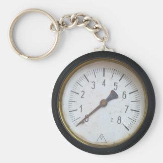 Porte - clé rond antique de mesure de mètre de porte-clé rond
