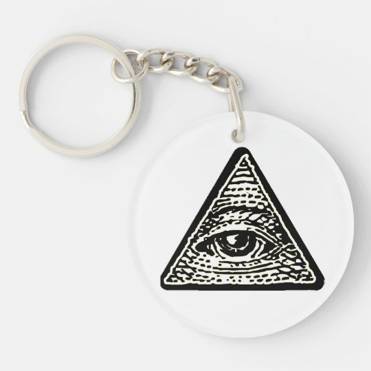 Porte-clé rond Oeil qui voit tout