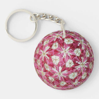 Porte - clé rose de HHG Temari, acrylique Porte-clé Rond En Acrylique Une Face