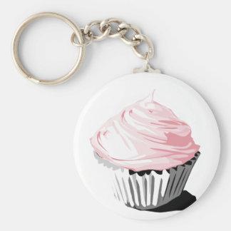 Porte - clé rose de petit gâteau porte-clés