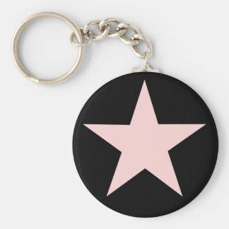 Porte - clé rose d'étoile porte-clés