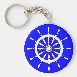 Porte - clé - roue de bateaux porte-clé rond