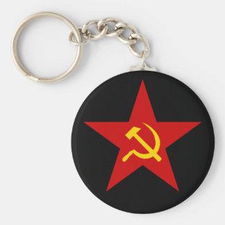 Porte - clé rouge communiste d'étoile (marteau et porte-clé rond