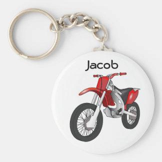 Porte - clé rouge de moto de vélo de saleté porte-clés