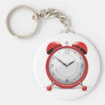 Porte - clé rouge de réveil porte-clé rond