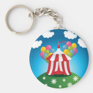 Porte - clé rouge de tente de cirque porte-clé rond