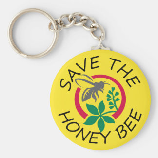 """Porte - clé """"sauvez de miel abeille"""" porte-clé rond"""