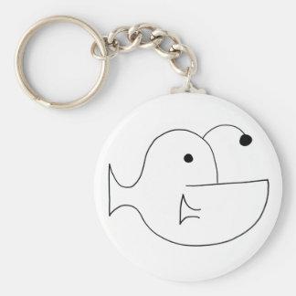 Porte - clé simple de lotte de mer porte-clés