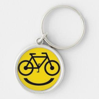 Porte - clé souriant de visage de vélo porte-clés