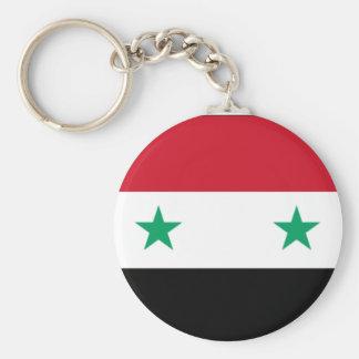 Porte - clé syrien de drapeau porte-clé rond