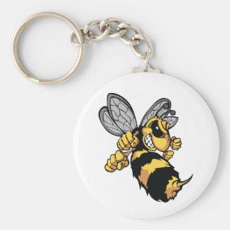Porte - clé très fâché d'abeille porte-clés